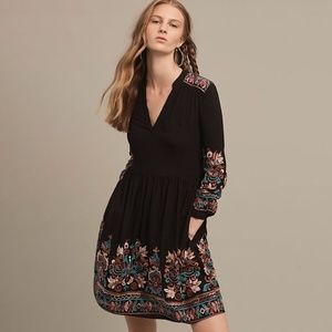 Anthropologie Embroidered Dress PS